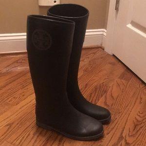 Tory Burch knee high rain boots